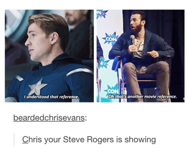 Chris Evans, your Steve Rogers is showing.