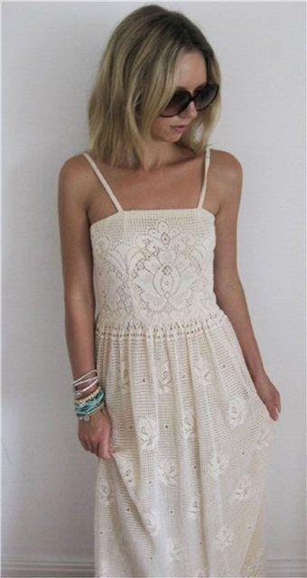 филейное вязание. платья.