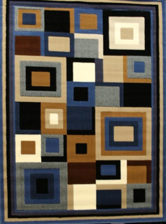 Blue Black Beige Brown 8x11