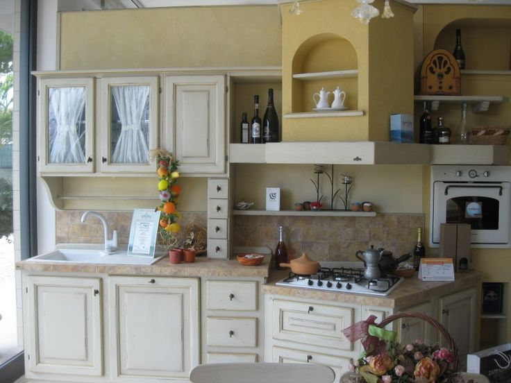 #Cucina La #Savina bianco antico filo oro #Zappalorto su www.outletmobili-italia.it