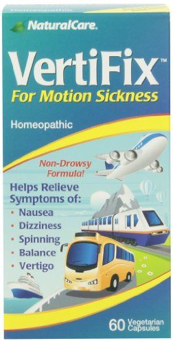 Naturalcare Vertifix for Motion Sickness, 60 Vegetarian Capsules NaturalCare ...      Helps relieve symptoms of nausea, dizziness, spinning, balance and vertigo     Homeopathic remedy     60 easy to swallow vegetarian capsules