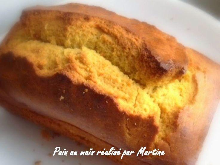 Pain au maïs sans gluten, sans lait, sans sucre, avec ou sans oeufs Ce délicieux pain au maïs par son moelleux accompagnera joyeu...