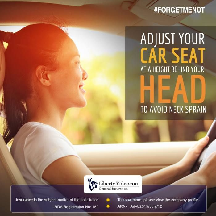 When driving, make sure you adjust the car seat's head rest at your head level instead of your neck. This reduces the onset of back and neck pains.#ForgetMeNot