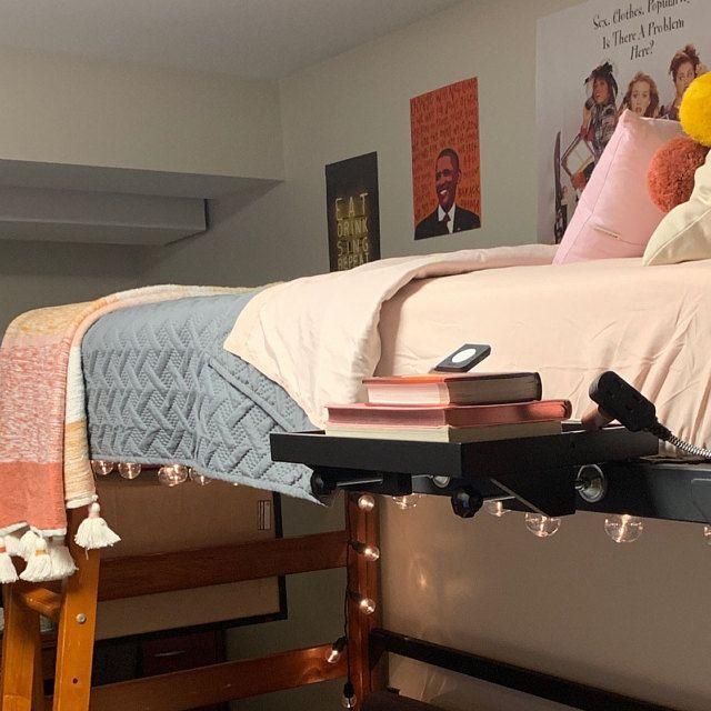 Bedshelfie Bedside Shelf Floating Nightstand Small Bedside Table For Small Bedrooms Loft Beds Bunk Beds Dorms Black Bamboo Schwimmendes Regal Zimmer Gestalten Loft Betten