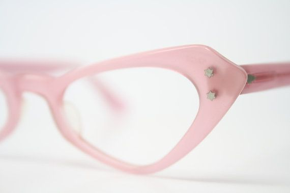 Pink cat eye glasses  vintage cateye di VintageOpticalShop su Etsy