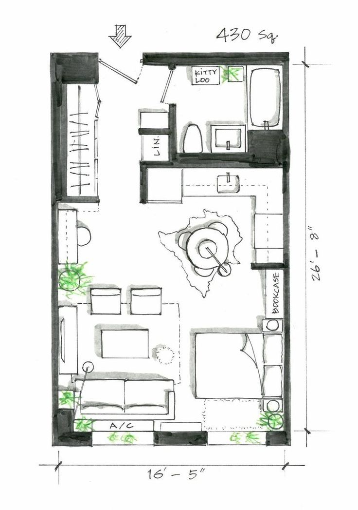 Best 25 studio apartment plan ideas on pinterest studio for Appartment plans