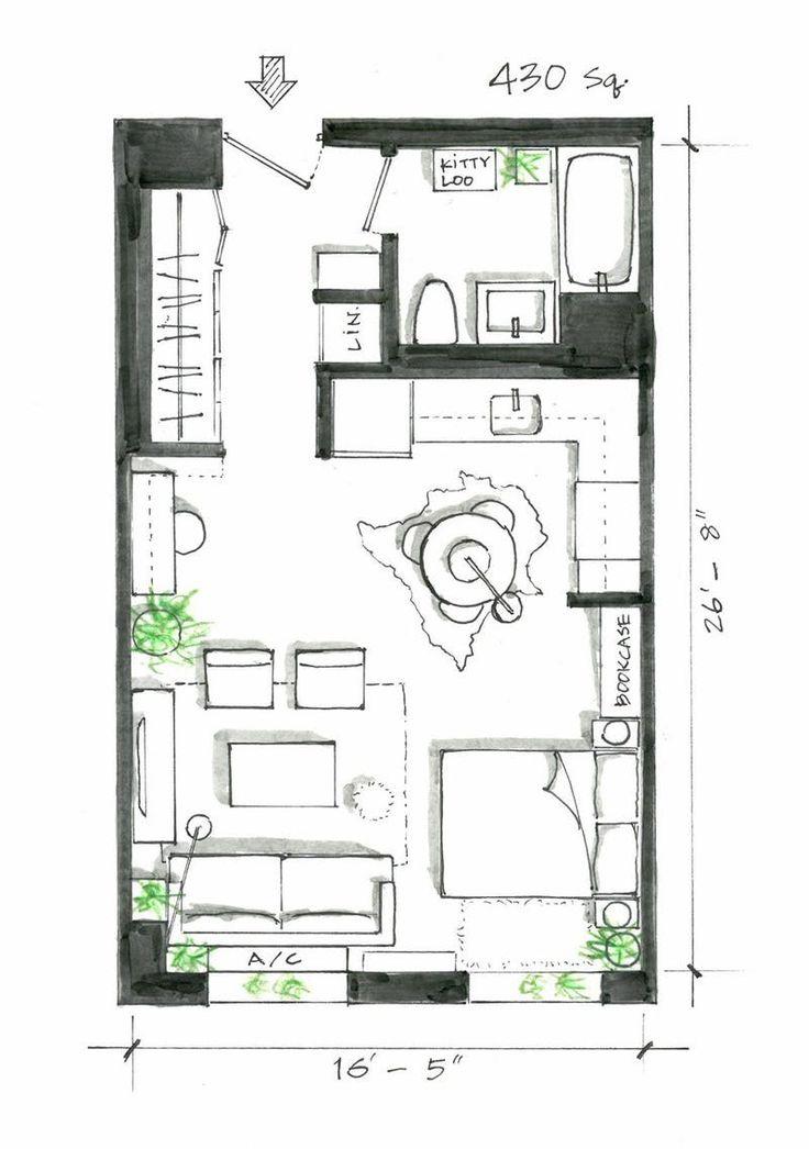 25 best ideas about Studio apartment floor plans on Pinterest