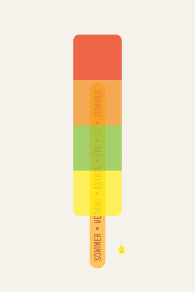 Rainbow Ice Lolly Art Print