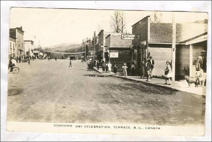 RP: Main Street (dirt), Dominion Day Celebration, TERRACE , B.C. , Canada , 1910s Item# SCVIEW95982 (118394534)