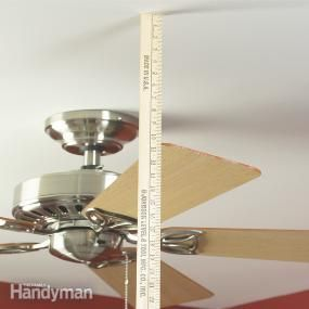How to Balance a Ceiling Fan ~ We show you how to adjust and balance your ceiling fan blades to stop the wobble and rattle. Get your fan running smoothly again in 15 minutes.