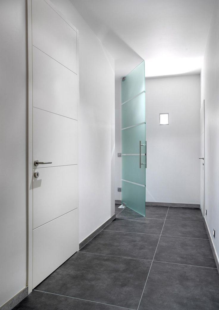 Nordex binnendeur draaideur moderne deur G 205 lak glazen binnendeur GSn 235 glas