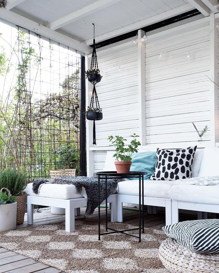 Balcony balkong uterum altan @bloggaibagis fine little day IKEA furniture DIY