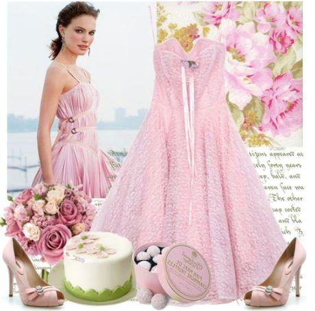 Платье, джемпер, колготы Bolichin розовые