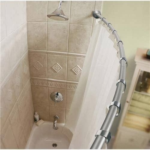 52 Best Images About Curved Shower Curtain Rods On