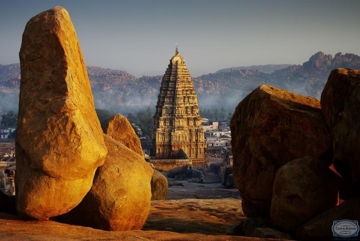 Hampi: For backpackers and rock-climbers. Visit the iconic Hampi Bazaar with its Virupaaksha Temple and  the waterfalls nearby. See the Hanuman Temple and Vittala temple. Go rock-climbing in this undisputed bouldering capital of India. #CoxandKings