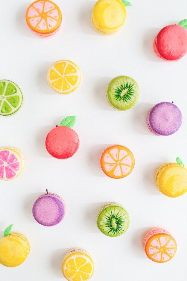 DIY fruit macarons - SO cute!
