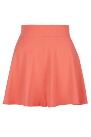 Peach skater skirt-new look