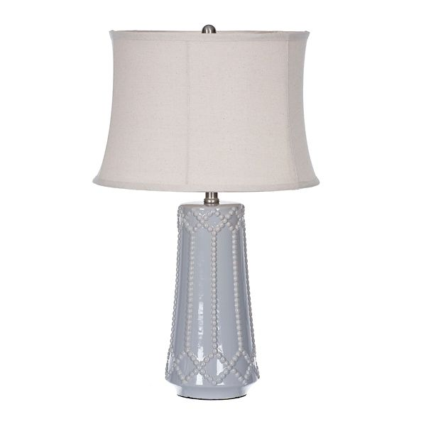 Gray Beaded Ceramic Table Lamp from Kirkland's | Table lamp