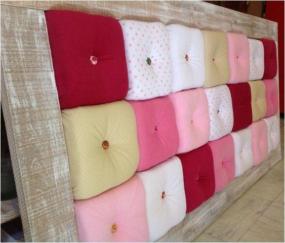 Respaldo de cama marco de madera reciclada con p tina - Respaldos para camas ...