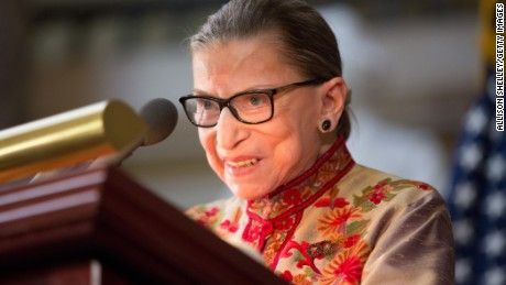 Supreme Court Justice Ruth Bader Ginsburg says she doesn't want to imagine the possibility of Donald Trump in the White House.
