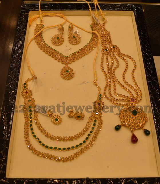 Jewellery Designs: Strings Uncut Diamond Sets