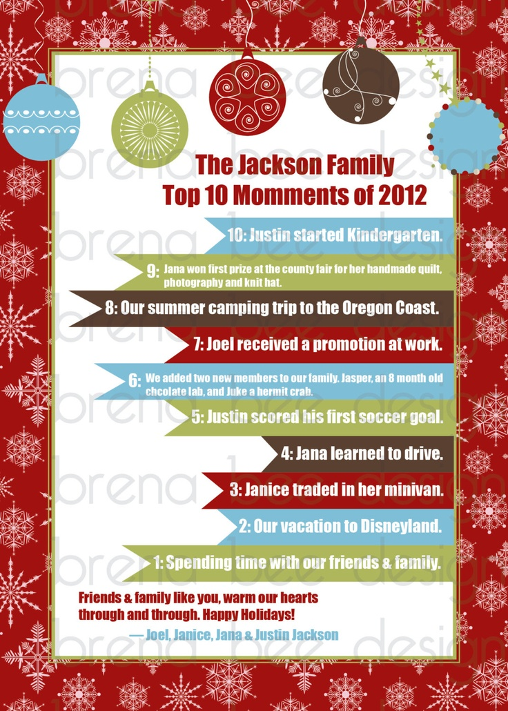 Best Memory  Family Newsletter Images On   Christmas