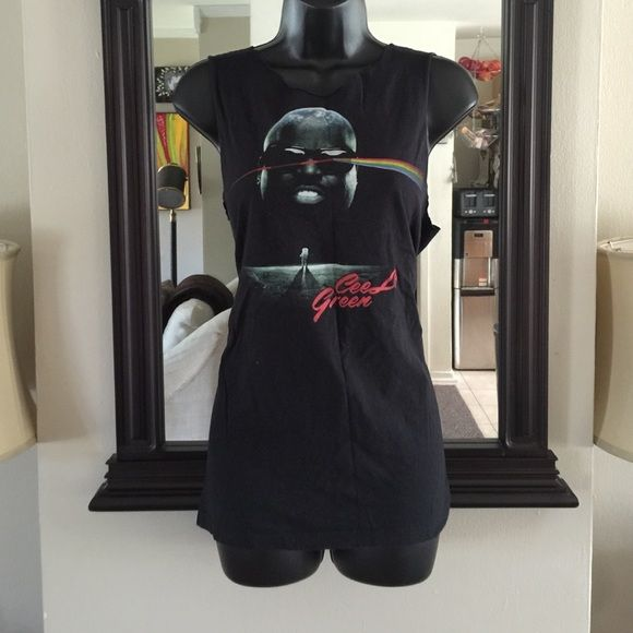💋Host Pick💋Cut-off Concert Tee Black Cee-Lo concert tee purchased at the Cee-Lo concert! Cute for music fest and Cee-Lo fans! (Pardon wrinkles, item was in storage) Tops