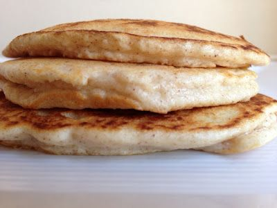 Easy Almond Flour Pancakes:  1/4 cup almond flour + 2 egg whites + 1T almond milk + cinnamon + 1 packet sweetener