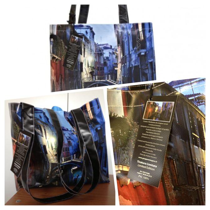 !! Limited Edition !! La nostra collezione artistica di borse d'autore che mette in risalto la città di Venezia con i suoi colori, le luci, le case e l'acqua.  http://www.gruppoantagora.it/index.php?id_product=104controller=product  #borsa #pvc #venezia #stampa #foto #collezione #bag #shopper #venice #print #photo #limitededition #collection #artcollection