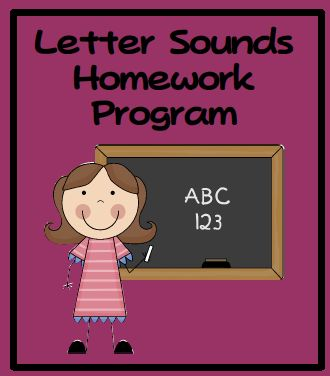 Letter sounds homework program- Sends home weekly progress report on each child and sounds they know...in a folder. Parents get weekly progress...could work on letter name, sounds, sight words.  Blog even talks about how to do it quickly