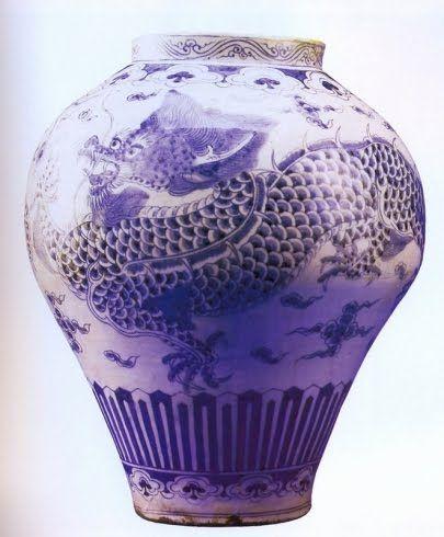 Exemplos de porcelana chinesa:   1ª Peça: China - Dinastia Qing 1723                        2ª Peça: Korea - Dinastia Choson - séc XIX      ...