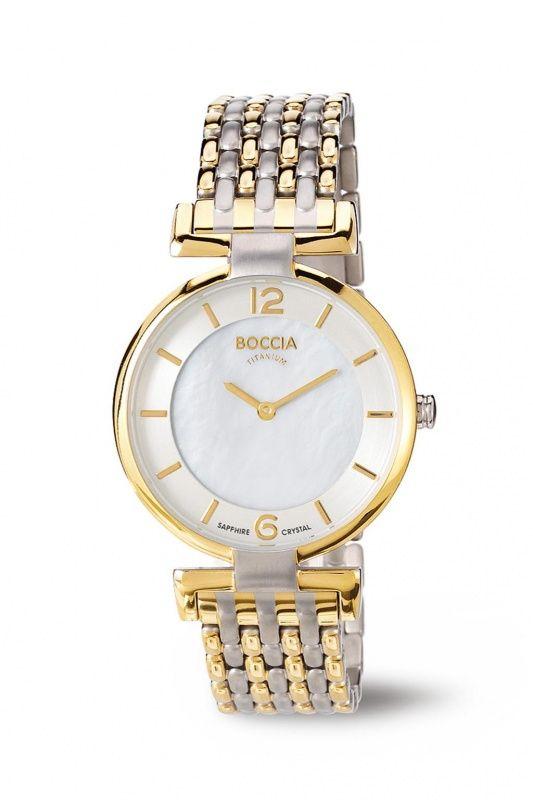 3238-04 - Boccia Titanium bicolor dames horloge