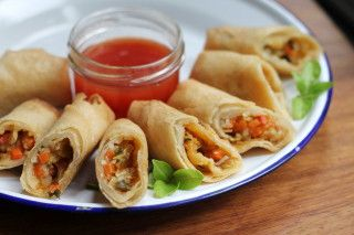 This recipe was a long time coming. I have been working on it for about 6 months. With the help of Bratty I was finally able to put it down on paper. It is all about the prep, chop before you start. This is not a whip it up in 10 minutes recipe but it makes enough for several meals. The number of egg rolls or eggrolls you get depends on if you add the bean sprouts. My friends and I get together and make them by the hundreds, of course that required more wine! Feel free to leave out any…