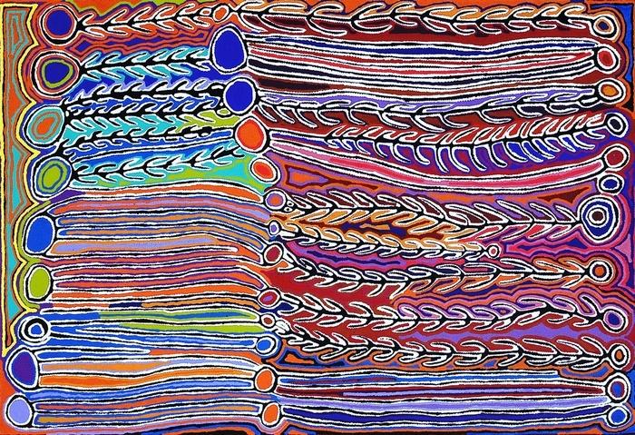 ©  Judy Watson Margaret Lewis Collaboratives   REGION Tanami Desert   TITLE My Dreaming
