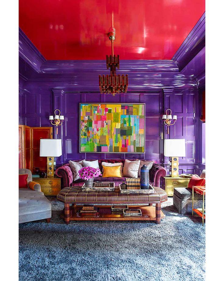 2,122 отметок «Нравится», 17 комментариев — LoftDesigne (@loftdesigne) в Instagram: «LoftDesigne пополняет копилку ваших идей! Ярко-красные потолки и двери, фиолетовые стены. Голубой…»