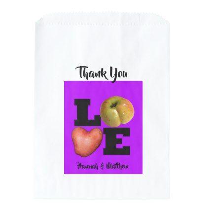 LOVE Collection Apple Potato Purple Favor Bag - Saint Valentine's Day gift idea couple love girlfriend boyfriend design