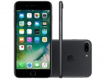 """iPhone 7 Plus Apple 256GB Preto Matte 4G 5,5"""" - Câm. 12MP + Selfie 7MP iOS 10 Proc. Chip A10"""