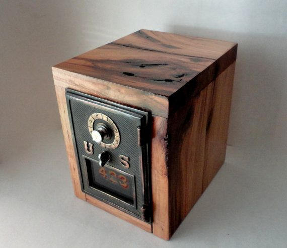 Combinaison de serrure boîte sécuritaire Vintage cuivre par ustabee