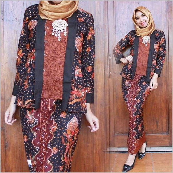 11 Model Baju Batik Muslim Modern Terbaru Untuk Wanita -