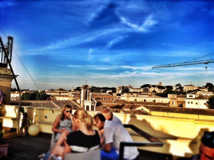 Rooftop bar at Hotel San Francesco, Rome