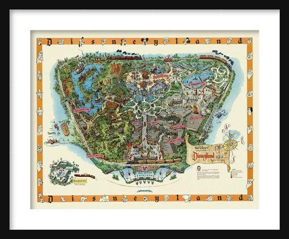 Disneyland Map  Panoramic Birds Eye View Map of Disneyland
