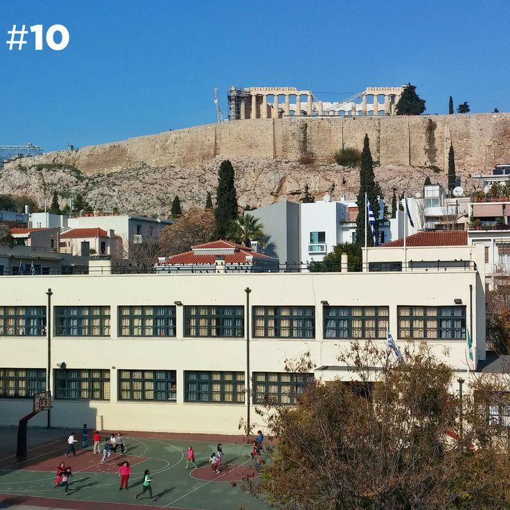 Herodion Hotel, Ροβέρτου Γκάλι 4τραβηγμένη με LG G2 Στο κάτω μέρος, το προαύλιο του 70ου Δημοτικού Σχολείου Αθηνών http://100taratses.com/