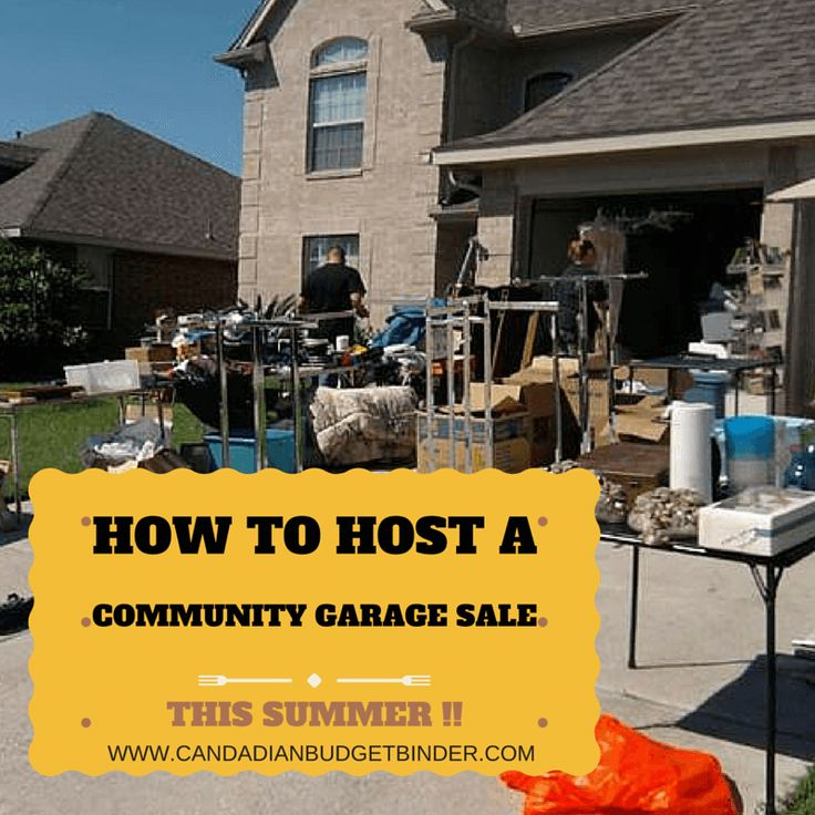 How to Host A Community Garage Sale