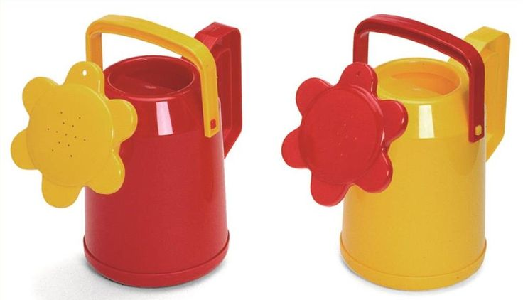 Plasto Watering Cans - A colourful way to encourage little ones outside into the garden. Available in red and yellow. Made in Finland and bear the Finnish Flag of Quality