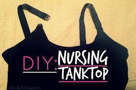 DIY - Nursing Tank Top for under $10.00