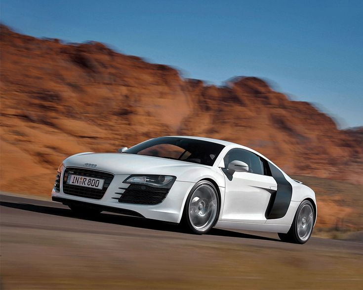 "The Audi R8.- instant driver control- xenon headlights with LED running light for the day.  19 "" alloy wheels makes this lightweight, athletic and powerful!"