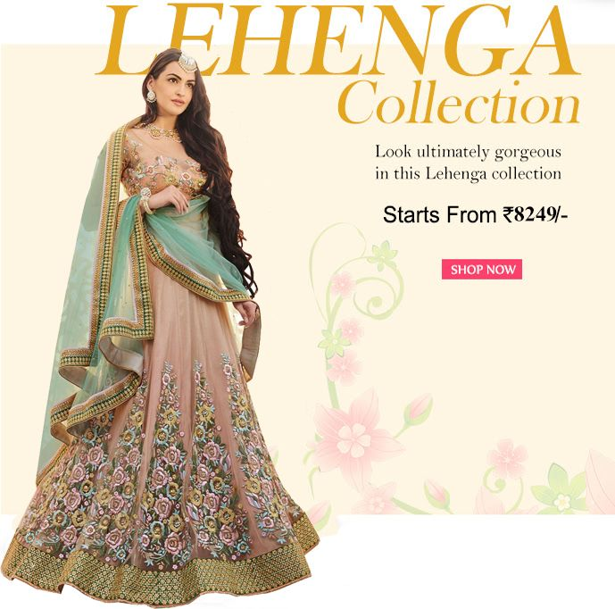 BUY DESIGNER LEHENGAS ONLINE SHOPPING  http://www.fly2kart.com/designers-wedding-lehengha.html?utm_content=buffer21961&utm_medium=social&utm_source=pinterest.com&utm_campaign=buffer SALE UP TO 50% OFF  HURRY UP! Whatsapp or call- +91-8000800110