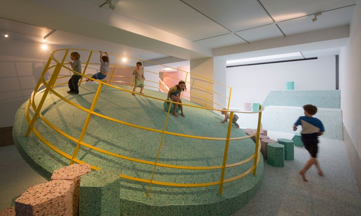 ... and Simon Terrill's foam playground at the RIBA headquarters, London