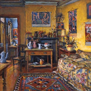 ◇ Artful Interiors ◇ paintings of beautiful rooms - Yellow Room, Margaret Olley.