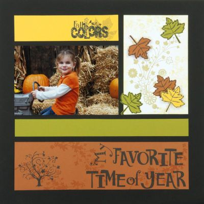 "Cute ""Fall Colors"" Scrapping Page...Heather Garl - Inkadinkado."